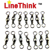 100PCS/LOT LineThink Brand Fishing Swivel  Barrel Swivel  Fishing Lure Accessories Terminal Fishing Tackle