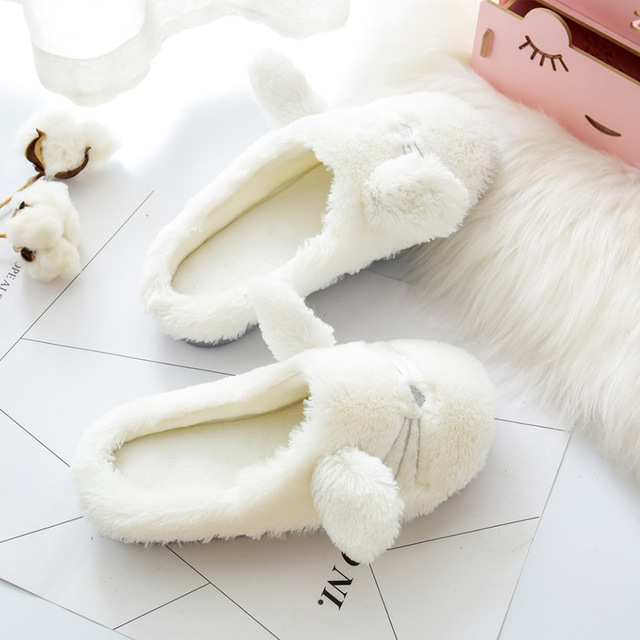 Cute Fluffy Cat Slippers 3