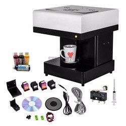 Automática taza para latte pastel Selfie impresora de alimentos comestibles Flor de tinta café impresora opcional con Wifi gratis tinta comestible
