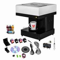 Automatic one Cup Latte Cake Selfie Art food Printer Edible Ink Flower Coffee Printer with Wifi optional with free edible ink