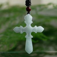 TJP Natural myanmar jadeite pendant cross pendant Christian Jesus cross jade pendant for women and men with certificate