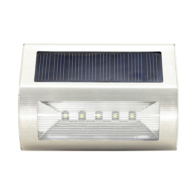 Outdoor waterproof solar light 5 led fence emergency wall light outdoor waterproof solar light 5 led fence emergency wall light garden floor entrance lamp corridor stairs aloadofball Image collections