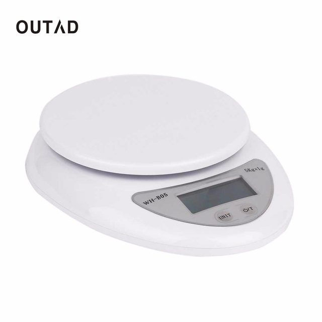 e61942b0c4ea OUTAD 5000g/1g Accurate Eelectronic LED Digital kitchen scales Food ...