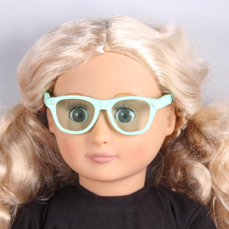 Модные синие игрушки куклы солнцезащитных подходит 18 американская девушка  одежды куклы и аксессуары ручной работы игрушки, очки 52ae725ee25