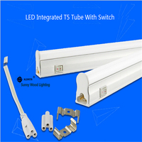 Free shipping 25pcs/carton 1.2m 18W T5 integrated led tube with switch ,seamless tube replace 28W fluorescent tube for work shop