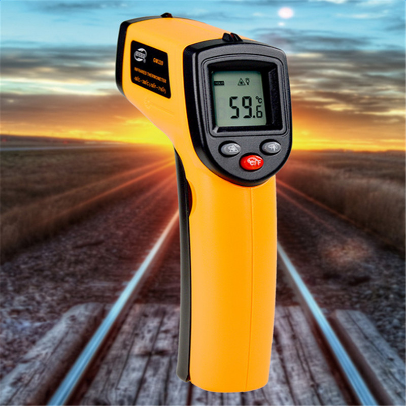 Non contact Digital Laser infrared thermometer GM320 -50~360C (-58~680F) Themperature Pyrometer IR Laser Point Gun For Industry 2017 bside btm21c infrared thermometer color digital non contact ir laser thermometer k type 30 500 led