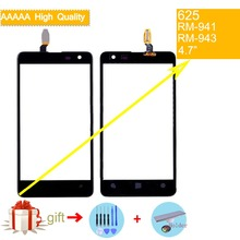 For Nokia Lumia 625 N625 RM-941 RM-943 Touch Screen Touch Panel Sensor Digitizer Front Glass Outer Lens Touchscreen NO LCD international language original motherboard for lumia 625 625h rm 943 board motherboard free shipping
