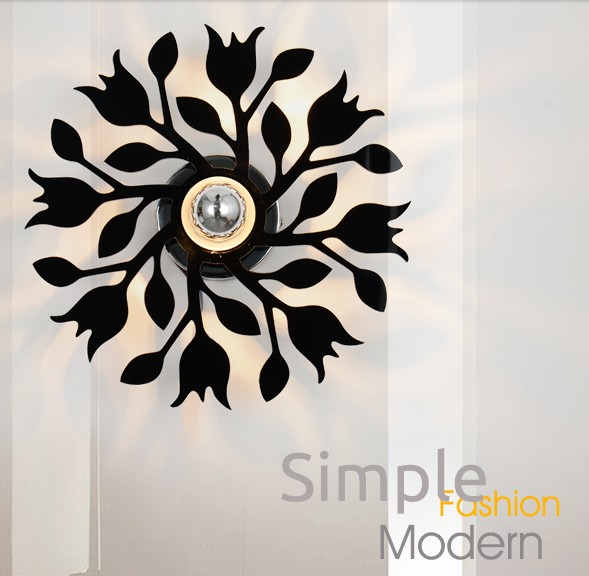 Simple creative Acrylic Shadow Wall Sconce Modern LED Wall Light For Home Bedside Wall Lamp Indoor Lighting Lampara Pared simple art modern led wall light fixtures for home indoor lighting acrylic round wall sconces bedside wall lamps lampara pared