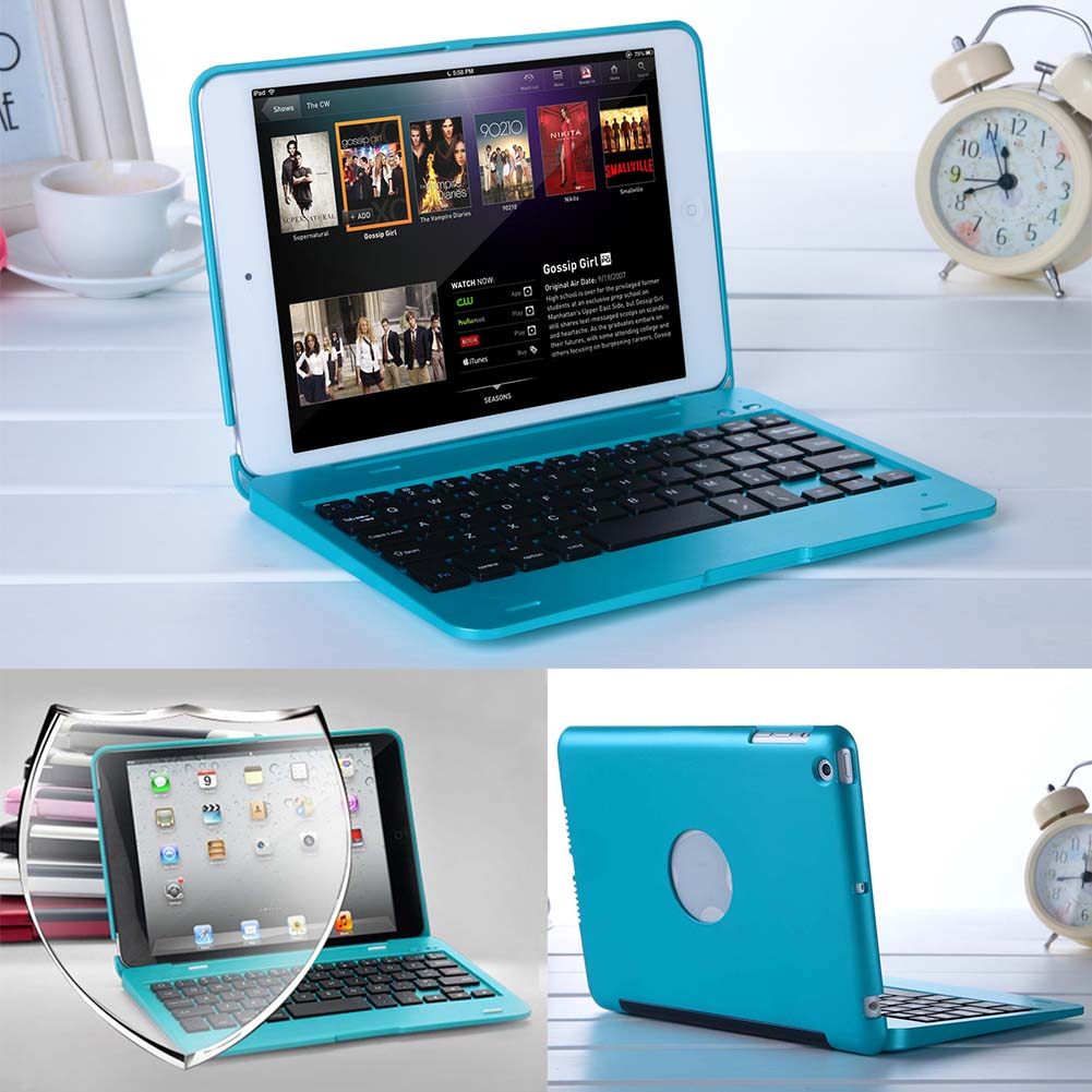 Foldable Wireless Bluetooth Rechargeable Keyboard Case Cover For iPad Mini Shockproof Keyboard Case Case Cover For 7.9 inch iPad