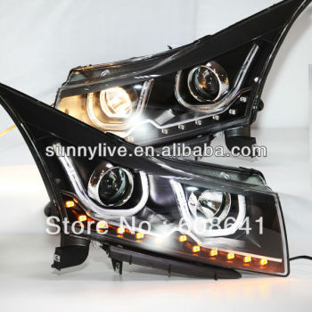 For CHEVROLET Cruze LED Head Lamp Angel Eyes 2009 to 2011 V7 Type