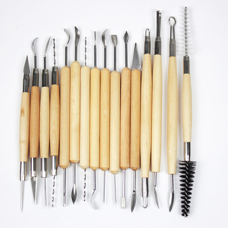 30Pcs/set Clay Sculpting Tools Pottery Carving Tool Set - Includes Clay Color Shapers, Modeling Tools & Wooden Sculpture Knife