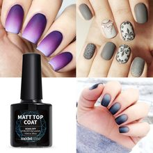 Modelones, высокое качество, матовый Гель-лак для ногтей, верхнее покрытие, сделай сам, стиль ногтей, Гель-лак, отделка ногтей, Ультрафиолетовый Матовый верхний слой
