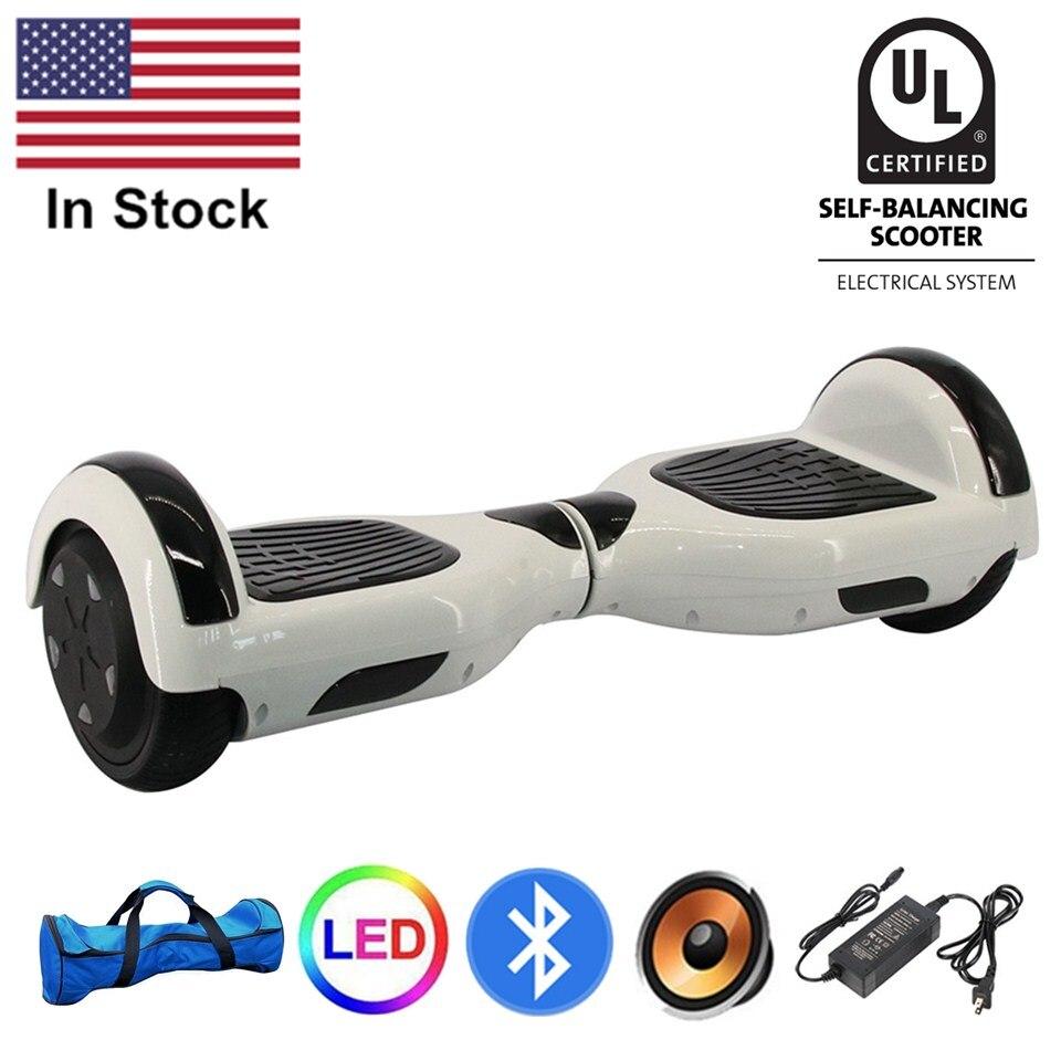 UL2272 certifié Hoverboard 6.5 pouces Bluetooth sac auto équilibrage Scooter électrique planche à roulettes adulte Scooter électrique vol stationnaire