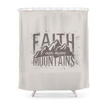 Faith Can Move Mountains Shower Curtain Set Waterproof Fabric Bath For Bathroom With Non