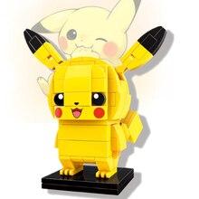 ENLIGHTEN Pikachu Cat Poke Elf Ball Anime Advance Dolls Pocket Monsters Detective Building Blocks Compatible