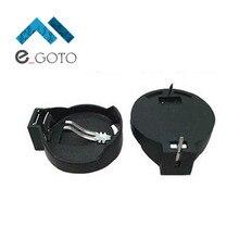 50 шт. CR2025 CR2032 Кнопка Батарея случае гнездо Батарея Кнопка держатель черный Пластик коробка