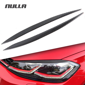 NULLA Koolstofvezel voor Volkswagen VW Golf 7 MK7 GTI R 2016 Head Light Lamp Oogleden Wenkbrauw Koplamp Decoratie Auto styling Trim