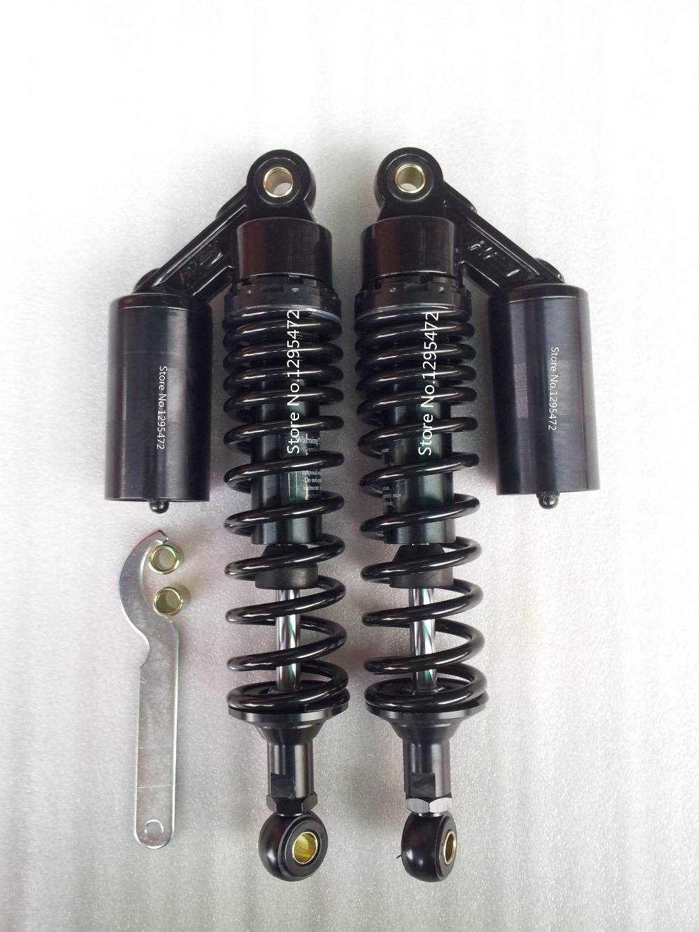 new all black 340mm 8mm spring rear air shock absorbers FOR cb400 99-11 vtec 92-98 sf xjr400 Dirt Gokart ATV MOTORCYCLE