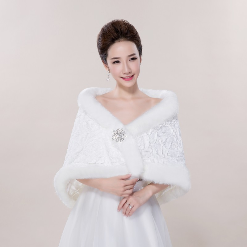 accessoires de mariage blanc nouvelle arrive de marie wraps maries accessoires la mode faux toles - Tole Blanche Mariage