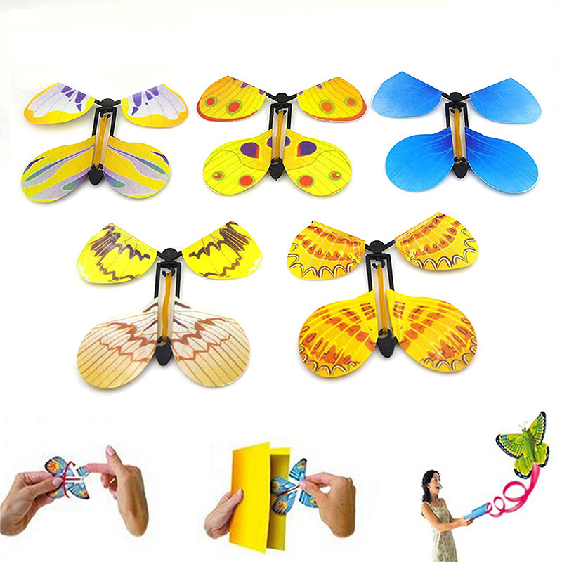 Hot 1 or 5 or 10PCS Random Funny Flying Magic Butterfly Cocoon Transforming Kids Trick T ...
