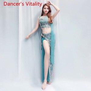 Image 5 - Bell Danceชุด + กระโปรง 2Pcsเสื้อผ้าสีลูกปัดปักไหล่Fairyเสื้อผ้าเครื่องแต่งกาย 4 สไตล์Belly Danceชุด