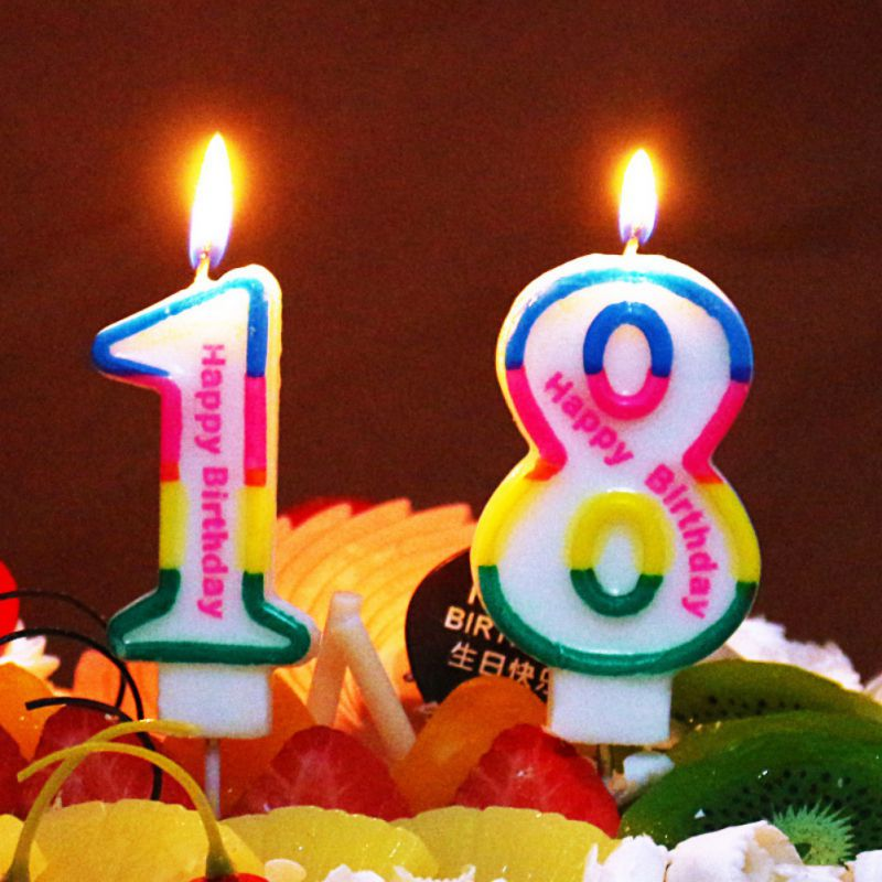 1 Pcs Cute Number Birthday Candles Cartoon Comic Birthday
