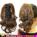 100% Девственницы Бразильский Реми Реальные натуральных волос клип в HumanHair расширения хвост Парики короткие Коготь Клип/Шнурок ponytail
