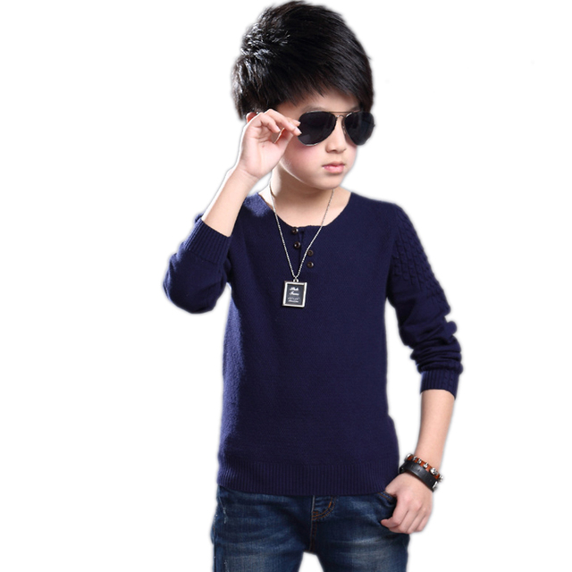 Kids Kniited Sweater Boys Sweaters Kids Sweater Children Clothing Pullover O-Neck Baby Boys Sweater Cotton Casual Baby Clothes