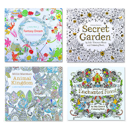 4pcs english edition secret garden fantasy dream animal kingdom coloring book children adults colouring book each.jpg 250x250