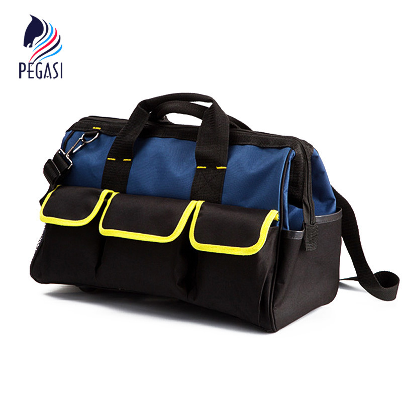 PEGASI Toolkit High Quality Multi-purpose Electrician Single Shoulder 19 Pockets Large Capacity Thicken Professional Tool clearaudio professional analogue toolkit
