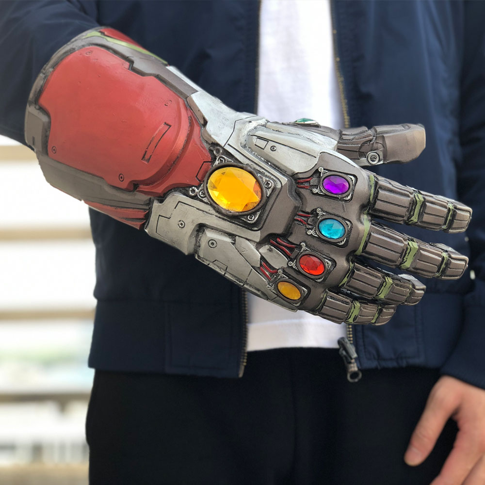 Avengers 4 Endgame Iron Man Infinity Gauntlet Cosplay Arm Thanos Latex Gloves Masks Marvel Superhero Halloween Party Props8