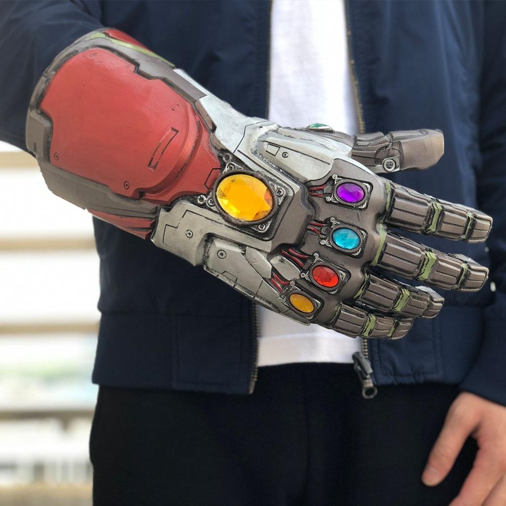 Avengers 4 Endgame Iron Man Infinity Gauntlet Cosplay Arm Thanos Latex Gloves Masks Marvel Superhero Halloween Party Props8
