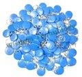 100 шт. Rfid Тег 125 КГц Близость RFID Карты Брелки Контроля Доступа Смарт-Карт Синий желтый красный Бесплатная Доставка В 65 Стран