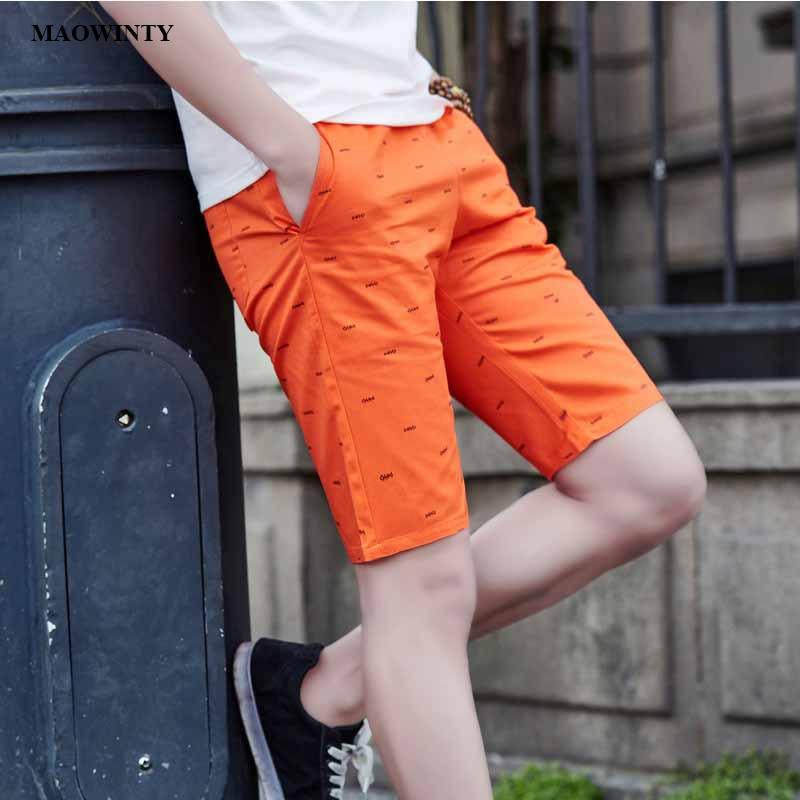 Casual Shorts Jeans Drawstring Knee-Length Cotton Men's Summer Straight Mid Regular Dot