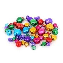 Cloches Jingle suspendues 6mm, 200 pièces, mélange de couleurs, pendentifs, ornements d'arbre de noël, décorations de fête, artisanat, accessoires