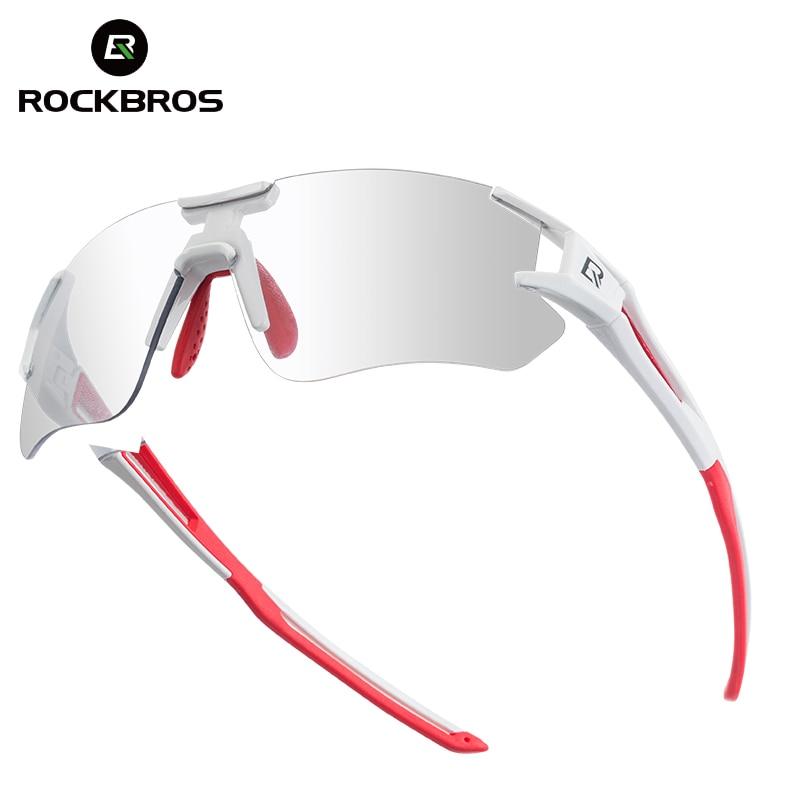 ROCKBROS photochromique vélo vélo vélo lunettes sport hommes lunettes de soleil vtt vélo lunettes de vélo équipement Protection lunettes