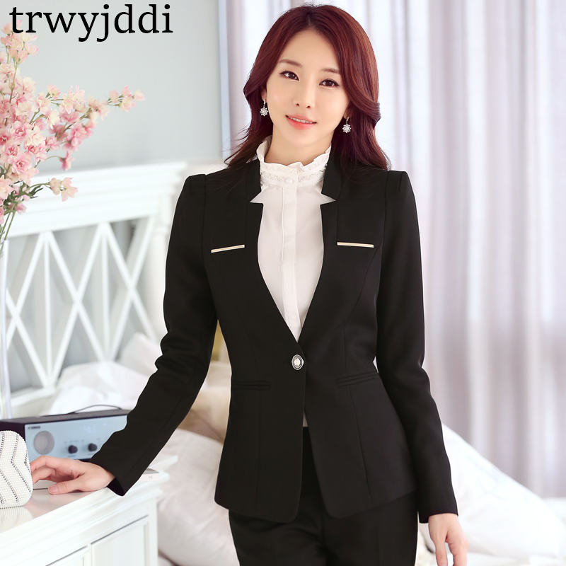 New Spring Professional Blazer Fashion Business Formal Long Sleeve Slim Women Jacket Office Ladies Work Coat