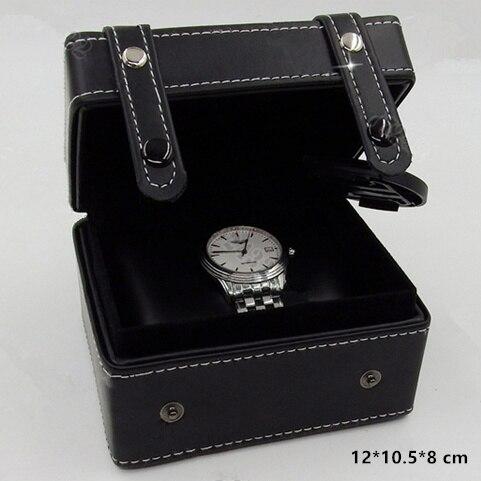 font b Top b font Quanlity Leather Watch Box Black Special font b Design b