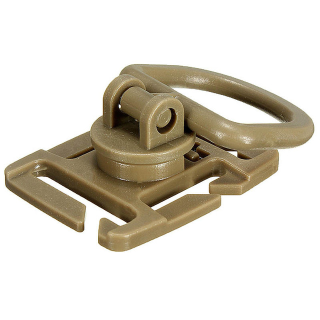 New Molle Sternum Strap System Swivel D-Ring Rotation Buckle 18MM 25MM Webbing Black Khaki Colors
