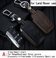 Genuine Leather CAR KEY CASE For LAND ROVER RANGEROVER SPORT AURORA DISCOVERY4 Use Automobile Special-purpose CAR KEY HOLDE