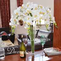Wedding Table Flowers High Quality Artificial Flowers White butterfly Orchid Silk Flower For Wedding Decor Dining Table
