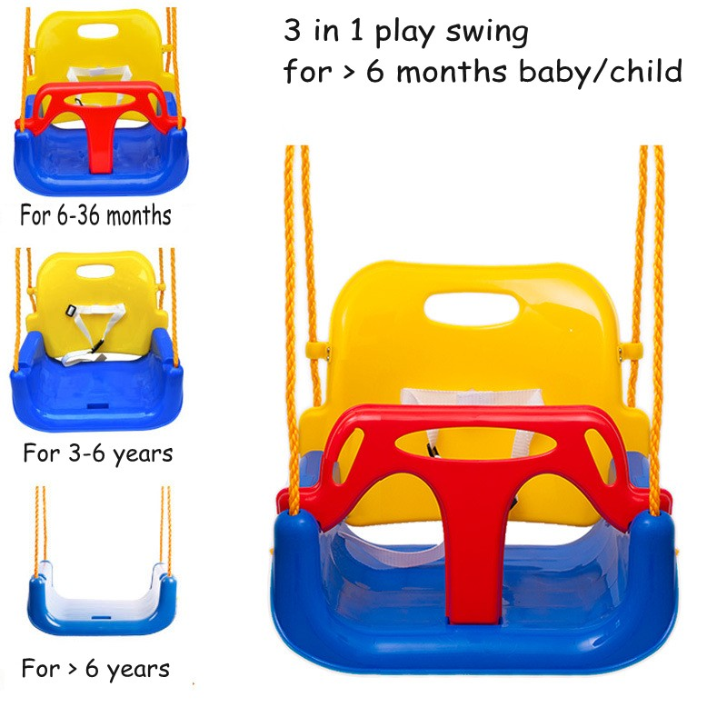 Hot Sale 3 In 1 Play Swings For Baby Child Safety Rocking Chair Outdoor Garden Park Kids Game Play Swings цены