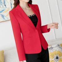 White Ladies Blazer Feminino Formal Short Suit One button V Neck Blazers Women Blazers Jackets for Women Blazers Slim Fit 4XL