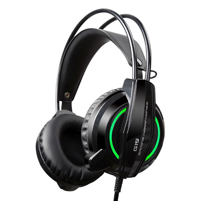 Best Computer Gaming Headset Headband with Microphone Mic  Heavy Bass Stereo Game Headphone with Light for PC Gamer xiberia k9 usb surround stereo gaming headphone with microphone mic pc gamer led breath light headband game headset for lol cf