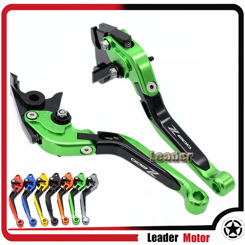 ФОТО For KAWASAKI Z800/E Version 2013-2016 Motorcycle Folding Extendable Brake Clutch Levers Green