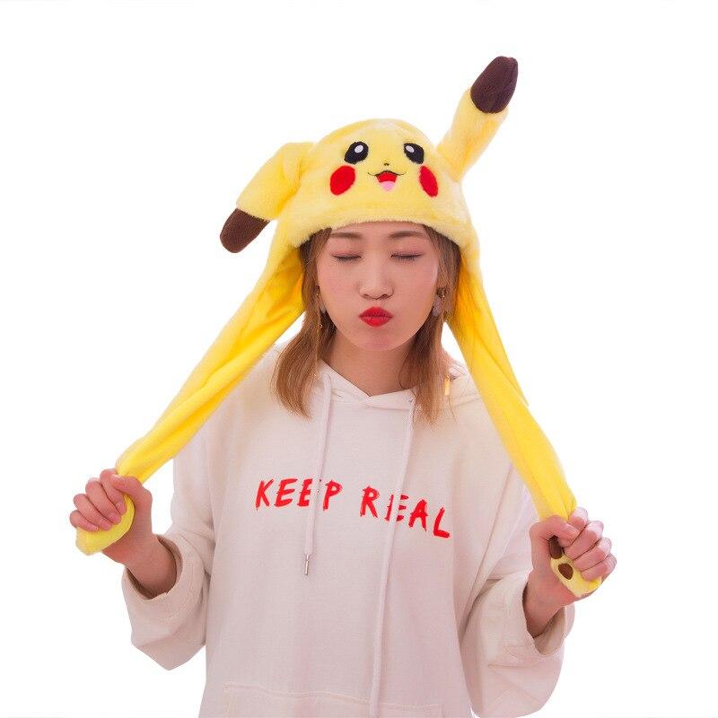 Hot Women Girls Cute Plush Moving Rabbit Ears Hat Soft Velvet Airbag Cap Controllable Long Ears Funny Toys For Kids Gift