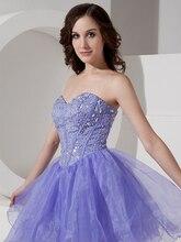 Echt Bilder Short Lavender Liebsten Prom Dresses Ballkleid Trägerlosen Party Kleider Kleider 2015 Nach Maß cd6685