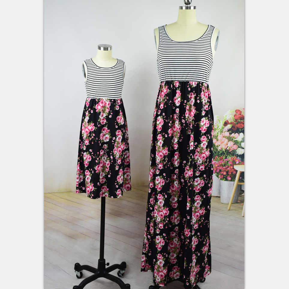 Одинаковые платья для мамы и дочки; Платья для мамы и дочки; Одежда в полоску для детей; Одежда для родителей и детей