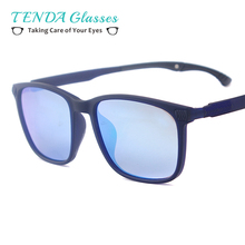 TR90 Lightweight Square Fashion Men Polarized Sunglasses With Slip Holder A For Myopia Multifocal Prescription Driving Glasses