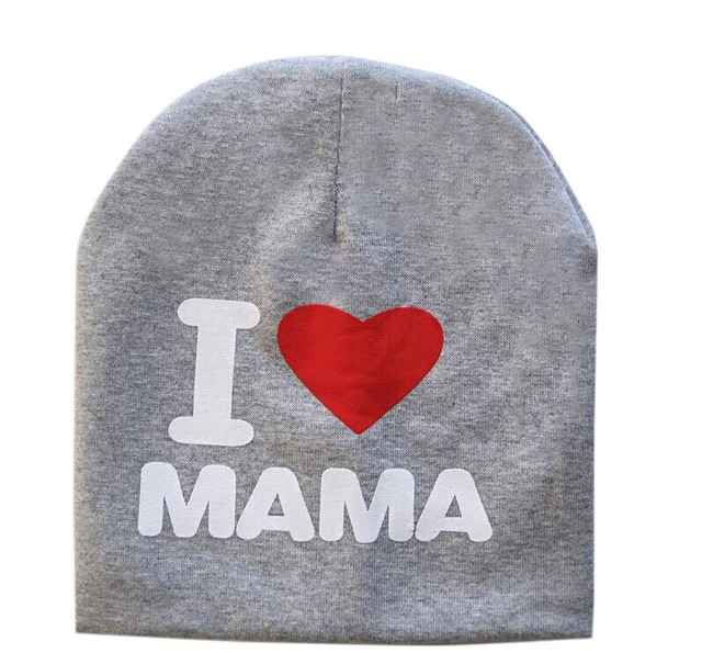 I love Mom\PAPA Warm Cotton Beanie Hat